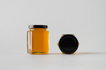 Honey Jar Mock-Up - Two Jars