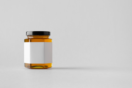Honey Jar Mock-Up - Blank Label