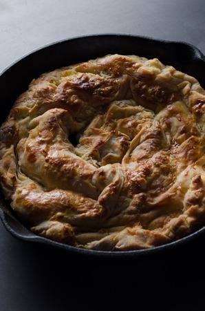 Homemade cheese pie - banitsa.