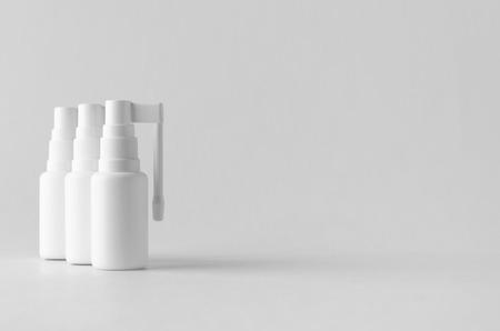 Throat spray pump mock-up.