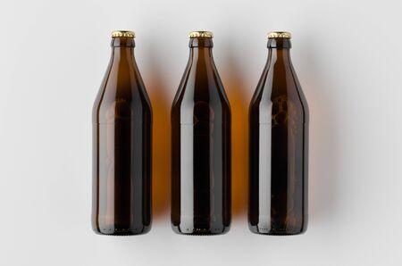 Top view of a beer bottle mockup. Banco de Imagens - 126254370