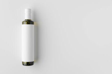 Olive / sunflower / sesame oil bottle mockup. Top view, blank label. Banco de Imagens - 126254410