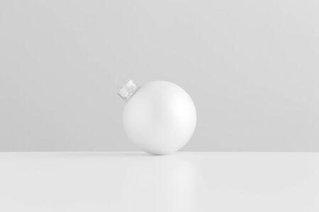 White matte christmas ball.