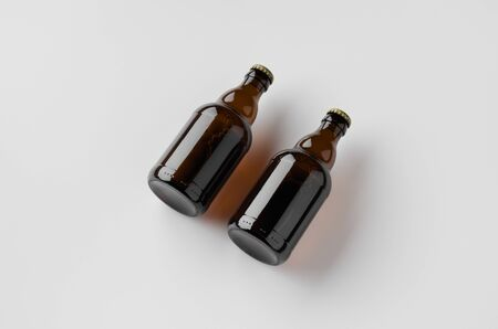 Steinie beer bottle mockup. Banco de Imagens - 126254434