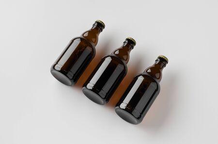 Steinie beer bottle mockup.
