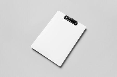 White clipboard mockup.