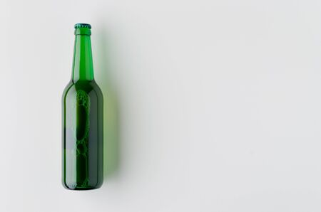 Top view of a beer bottle mockup. Banco de Imagens - 126254454