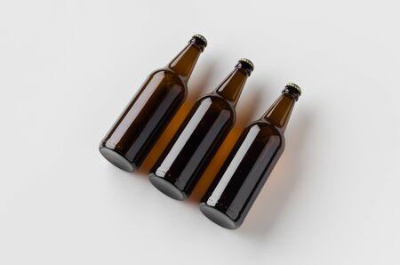 Beer bottle mockup. Three bottles.