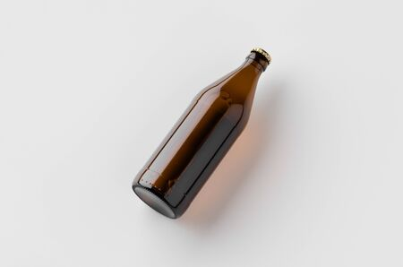Euro beer bottle mockup.