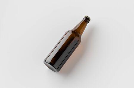 Beer bottle mockup.