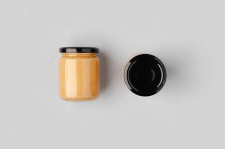 Peanut, almond, nut butter jar mockup.