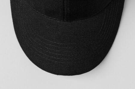 Black baseball cap mockup closeup. 版權商用圖片
