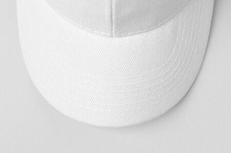 White baseball cap mockup closeup. 版權商用圖片
