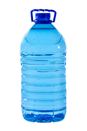 The big 5-liter bottle of water is isolated on a white background