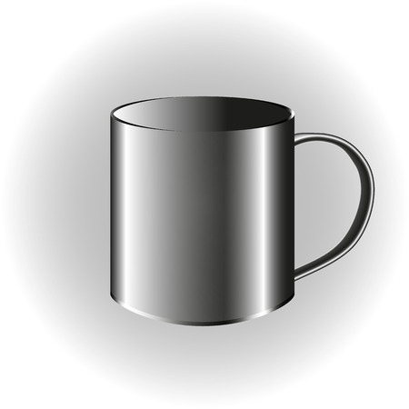 illustration of metallic cup isolated on white background