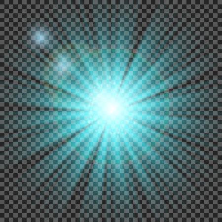 flare light: transparent sunlight special lens flare light effect. Illustration