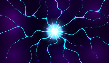 Electric lighting effect, abstract techno backgrounds for your design.