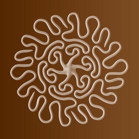 Mandala 3D . Mandala octopus. Ilustrace