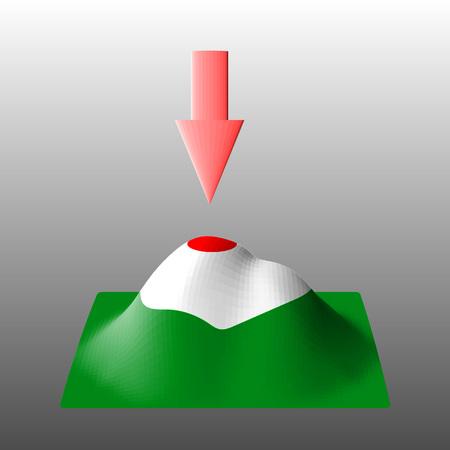 distance marker: Gps navigation 3D  concept. Technology background with navigation and landscape. Illustration