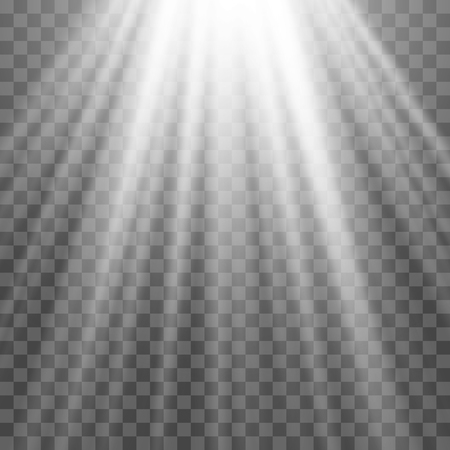 floodlight: EPS10. Light Spotlight white. Template for light effect on a transparent background. Vector illustration