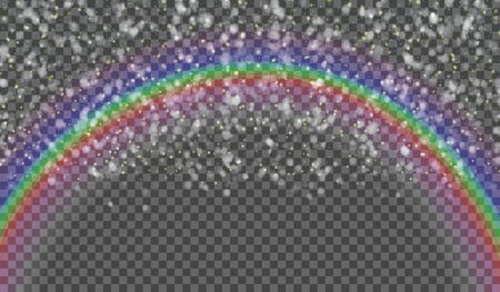 rainbow sky: eps10.Blurred drops on the background of the rainbow. Transparent background. Vector illustration