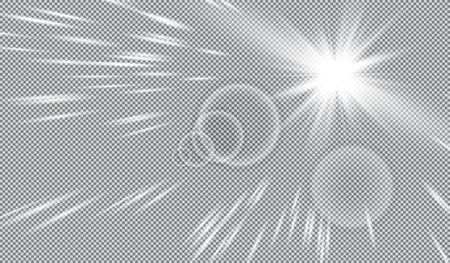 springtime: Vector transparent sunlight special lens flare light effect.