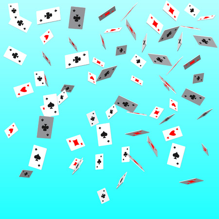 eps10. Pattern card suits. Casino and shape, decoration and game and poker. Vector illustration