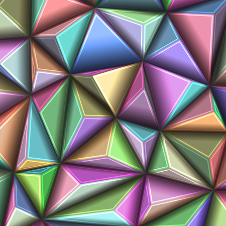 EPS10. vector illustration abstract 3d geometric polygonal triangle pattern