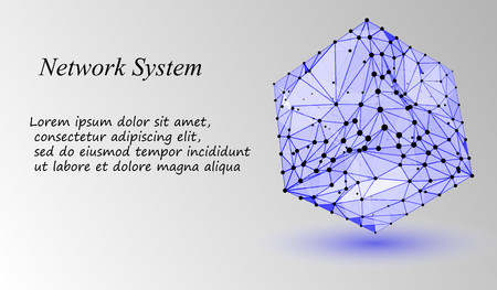 EPS10. 3d geometric vector background for business or science presentation.