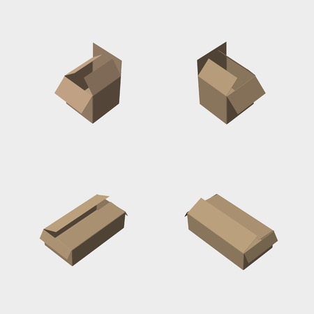 Cardboard box under different angles