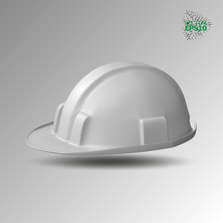 rainbow: A plastic helmet is a building, white color. Illustration