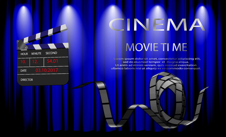 camera film: Elements of the film industry. Illustration