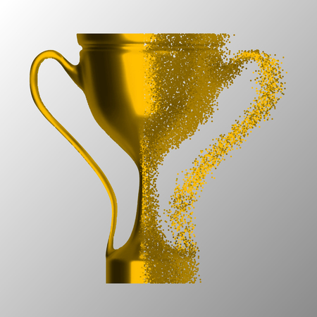 A vector illustration of trophy on white background.
