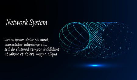 eps10. 3d geometric vector background for business or science presentation. Illustration