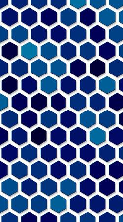 eps10. blue Hexagon vector texture. Hexagonal grid repeat pattern. Geometric pattern monochrome structure, graphic hexagon repeat background illustration