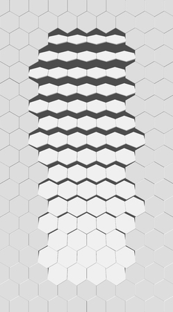 eps10. Hexagon vector texture. Hexagonal grid repeat pattern. Geometric pattern monochrome structure, graphic hexagon repeat background illustration