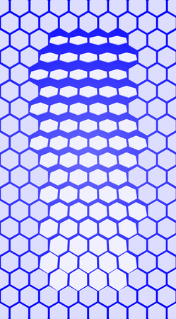 eps10. blue Hexagon vector texture. Hexagonal grid repeat pattern. Geometric pattern monochrome structure, graphic hexagon repeat background illustration
