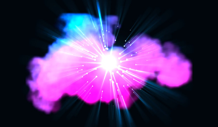 Eps10. Laser beams of blue and red emitted in different directions. Vector illustration. Light Effects Night background