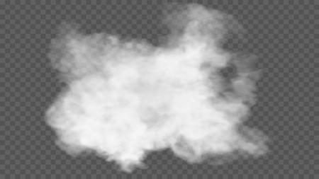 L'effet spécial transparent se distingue par le brouillard ou la fumée. Banque d'images