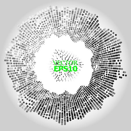 EPS10. Wave of particles. Abstract background with a dynamic wave on a light background. Big data. Vector illustration