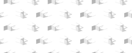 Seamless pattern of chairs with shadows on the floor. Vector background. Illustration