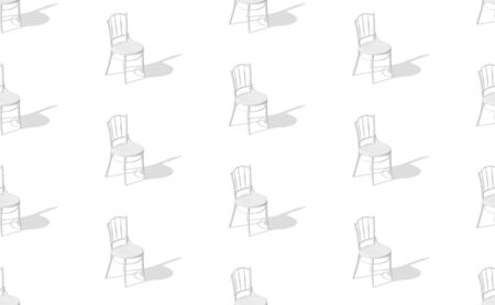 eps10. Seamless pattern of chairs with shadows on the floor. Vector background.
