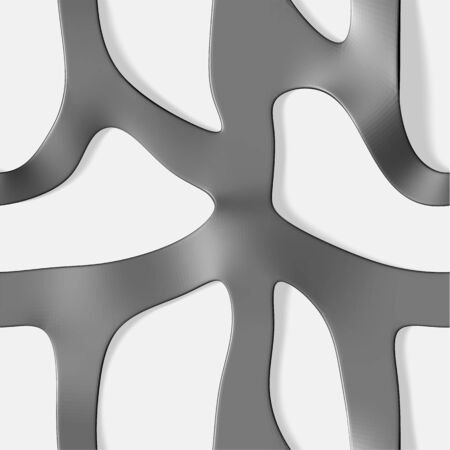 Seamless pattern of curves interconnected on a white background with shadows. Vector illustration Illustration