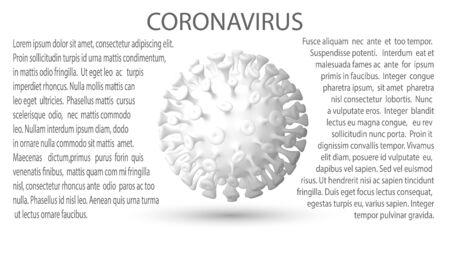 EPS10. Vector illustration. Coronavirus 2019-nCov novel coronavirus concept responsible for asian flu outbreak and coronaviruses influenza as dangerous flu strain cases as a pandemic. Microscope virus close up.