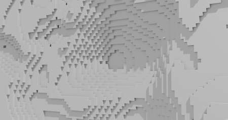 3d rendering. White cubic embossed surface with shadows. Abstract background for your design.