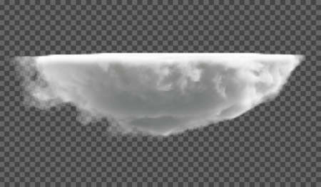 eps10. Realistic fluffy dense clouds on a transparent background. Element for your creativity