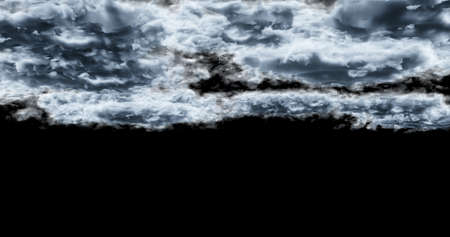 3d rendering. Cloud on a black background. Atmospheric phenomenon.