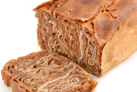 apple cinnamon: Tradizionale Polacco dolce pane, mela cannella povitica. Archivio Fotografico