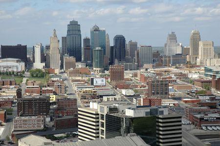 Kansas City skyline. Stock Photo