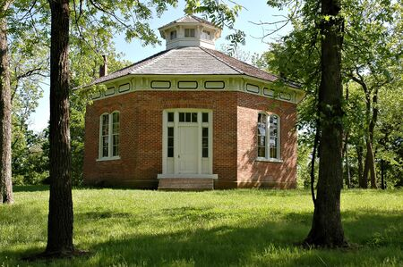 schoolhouse: Schoolhouse at Watkins Mill State Park in Missouri.  Stock Photo